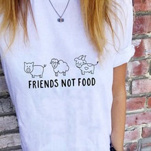 2019 New friends not food Womens T Shirt Cartoon print Harajuku love and fear Women T-Shirt Casual Short Sleeve Streetwear