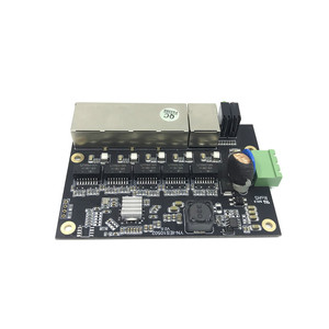 Image 2 - 管理 5 ポート 10/100 メートル産業用イーサネットスイッチ pcba ボード OEM 自動オートセンシングポート PCBA ボード OEM マザーボード