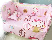 Promotion 6PCS Babys Sets Baby Bedding Crib Set Infant Baby Children Bed Crib Bedclothes Include Bumper