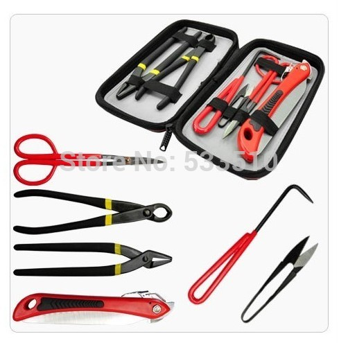 Brand new bonsai tools set multi-function bonsai kit six-piece set Foldable saw and scissors and hook Greatest Bonsai 3 pcs bonsai tool set jttk 19 long handle scissors round edge cutter tweezers master grade bonsai tools excellent quailty