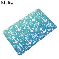 Door Mat Marine Sea Boat Anchor Printed Floor Mat Bathroom Kitchen Carpets Doormats Anti Slip Rug