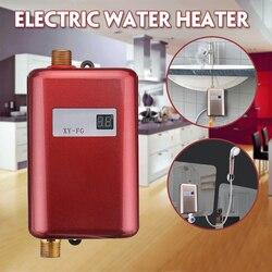 Calentador de agua eléctrico de 3800W calentador de agua instantáneo sin tanque 110 V/220 V 3.8KW temperatura pantalla calefacción ducha Universal