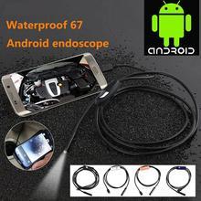 Портативный Мини 7 мм 1 М USB Эндоскоп для Android OTG Телефон Водонепроницаемый Эндоскоп 6LED Инспекции Borescope Трубки Микро Камера CMOS