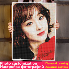 Photo custom diamond painting all-round picture rhinestone DIY mosaic embroidery photo