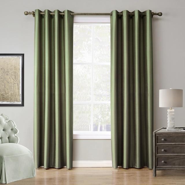 Groene verduisterende gordijnen gordijnen luxe solid sheer for Gordijnen voor slaapkamer