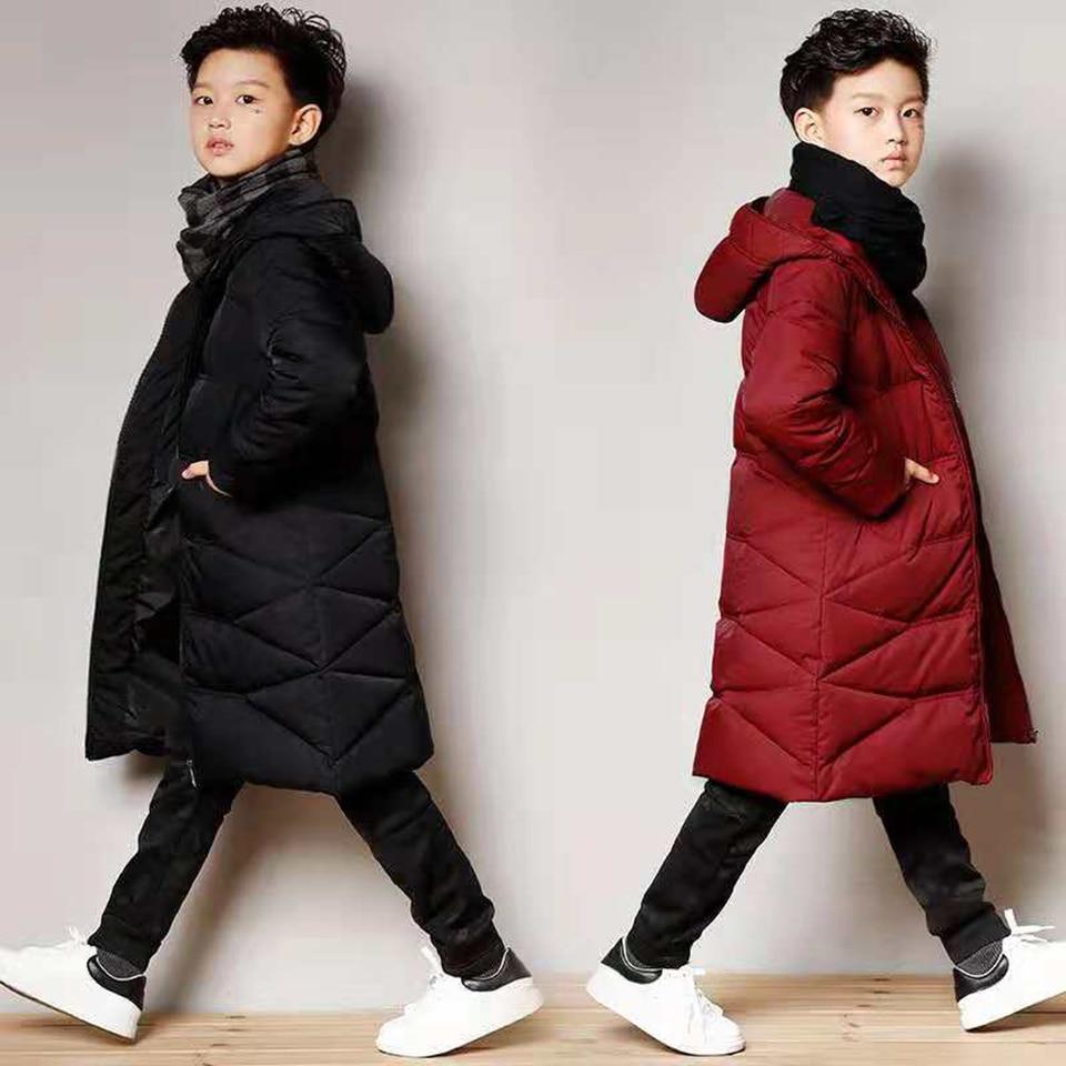 Boys Winter Coat Baby Boys Clothes Kids Warm Outerwear Children Coats 2018 Fashion Winter Children Clothing Boys Hooded Parkas 2018 winter fashion boys