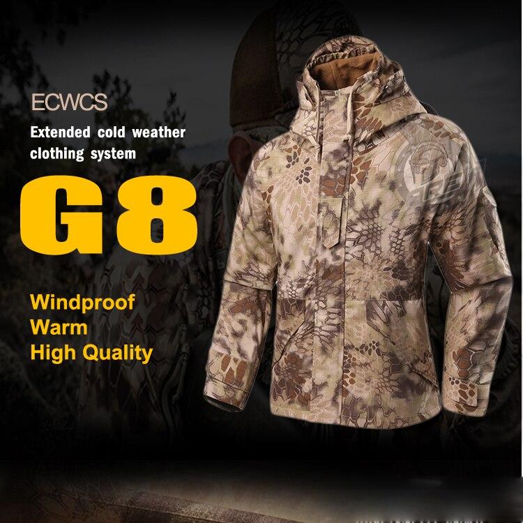 100% QualitäT Highlander G8 Ecwcs Windjacke Hoody Softshell Jacke Erweiterte Kälte Oberbekleidung
