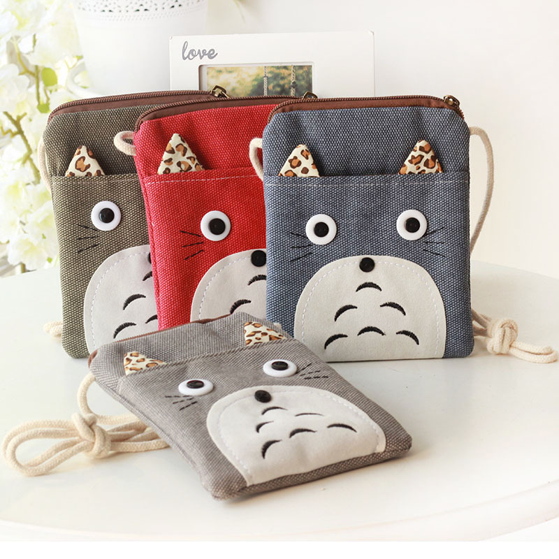 2017 fashion Totoro bag kids wallets boys small bag Ladies ...