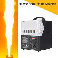 2Pcs 200w 2 Head DMX Control Spray Fire Machine Disco Wedding Light Flame Machine