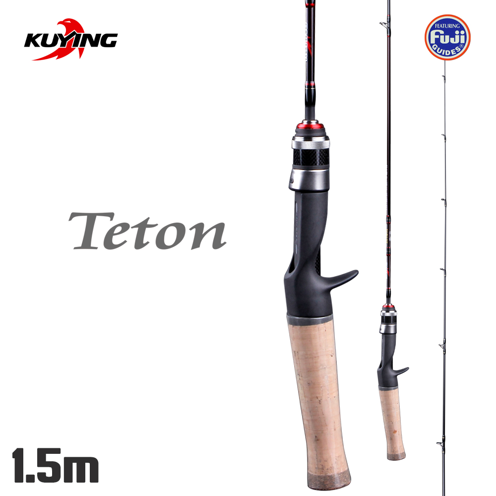 KUYING TETON 1.5m 50 Carbon Stream Casting 1.5 Sections Lure Fishing Rod Stick Cane Pole Soft Ultralight Fast Action 1-7g LureKUYING TETON 1.5m 50 Carbon Stream Casting 1.5 Sections Lure Fishing Rod Stick Cane Pole Soft Ultralight Fast Action 1-7g Lure