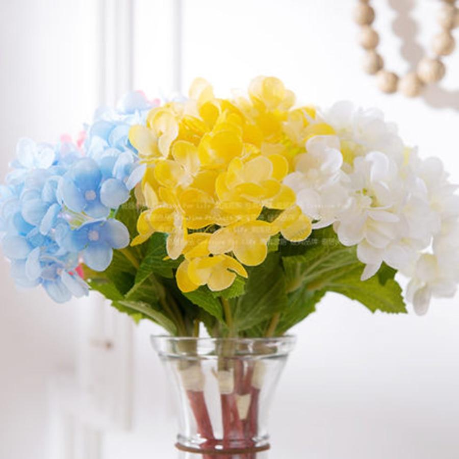 Artificial Flowers For Decoration Heads Hydrangeas Wedding Decor