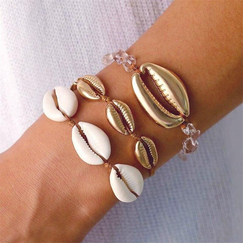 Femme plaqué argent étoile de mer /& Pétoncle Européenne Bracelet Breloque en Cristal Bracelet