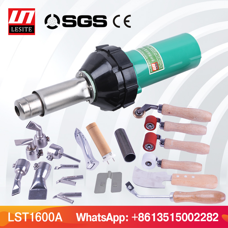 LESITE LST1600 220V Pistola hot air pistol pe hot gun plastic tarpaulin welding hot air torch hot gun welder new 110v 230v 1600w hot air welding gun torch for pp pe pvc viny plastic welder pistol with 5mm nozzle and heating element