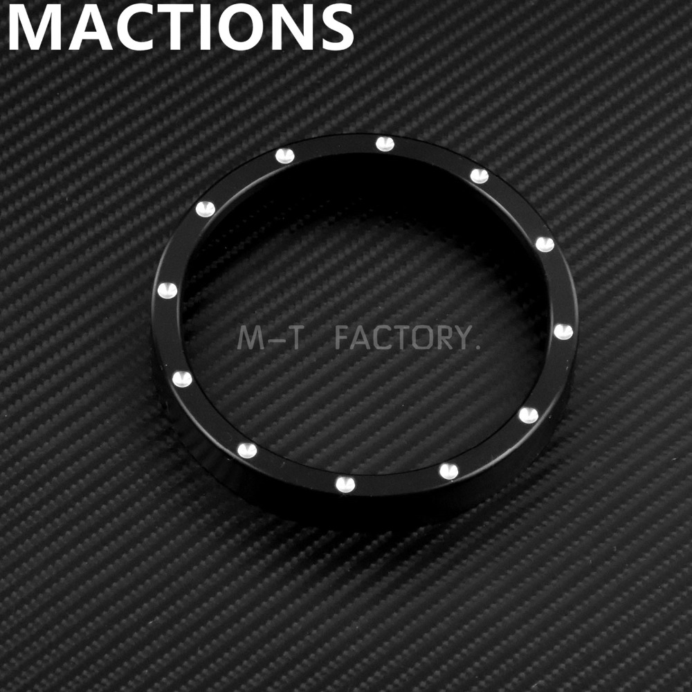 US $8 36 15% OFF Motorcycle Parts Speedometer Trim Bezel Black For Harley  883 1200 Dyna Street Bob Low Rider models-in Covers & Ornamental Mouldings