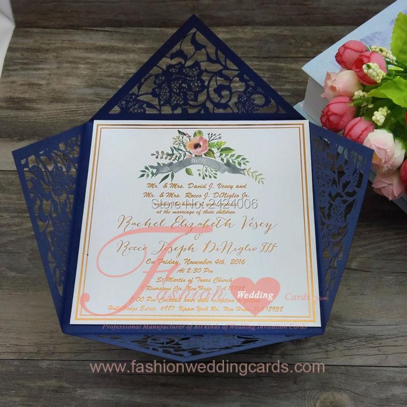 Cheap Online Wholesale Navy Blue Personalised Laser Cut Wedding ...