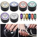 5g/box Shinning Mirror Nail Glitter Powder Gorgeous Chrome Pigment Manicure Glitters Dust Nail Art Decorations 6 Colors New STA