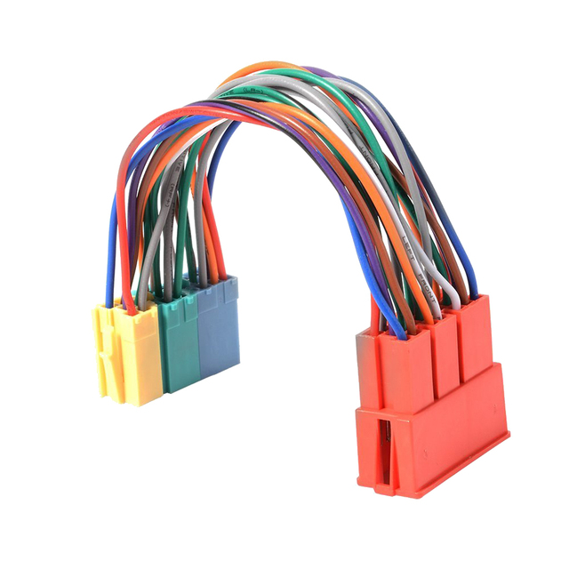 8-Pins 20-Pins Mini ISO Harness Cable Adapter Car Electronics Accessories for VW Audi 19cm