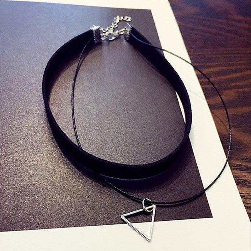 Женское многослойное ожерелье N757, треугольное геометрическое ожерелье с подвеской
