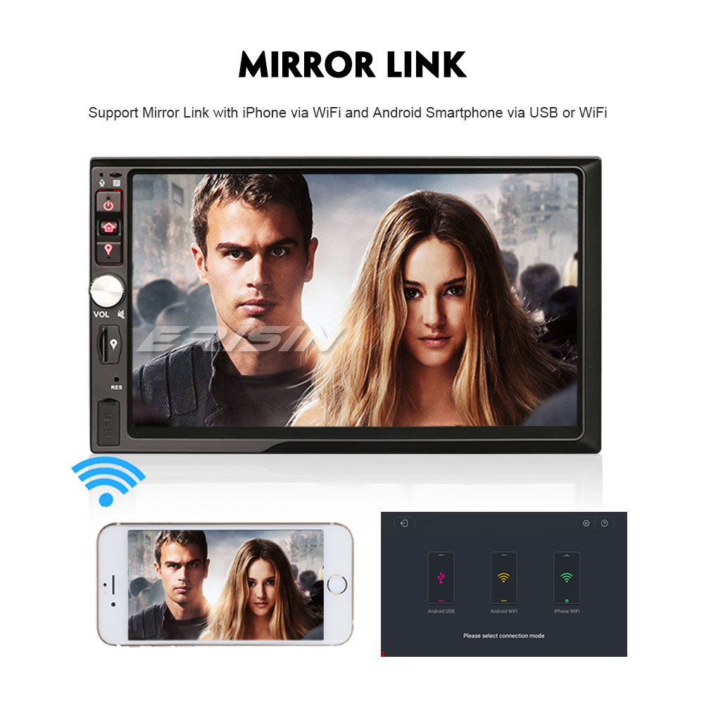 e192b65852007e Erisin ES7841U 7 inch car dvd player android 8.0 4G RAM DAB OBD WIFI 3G for  universal cars-in Car Multimedia Player from Automobiles   Motorcycles on  ...