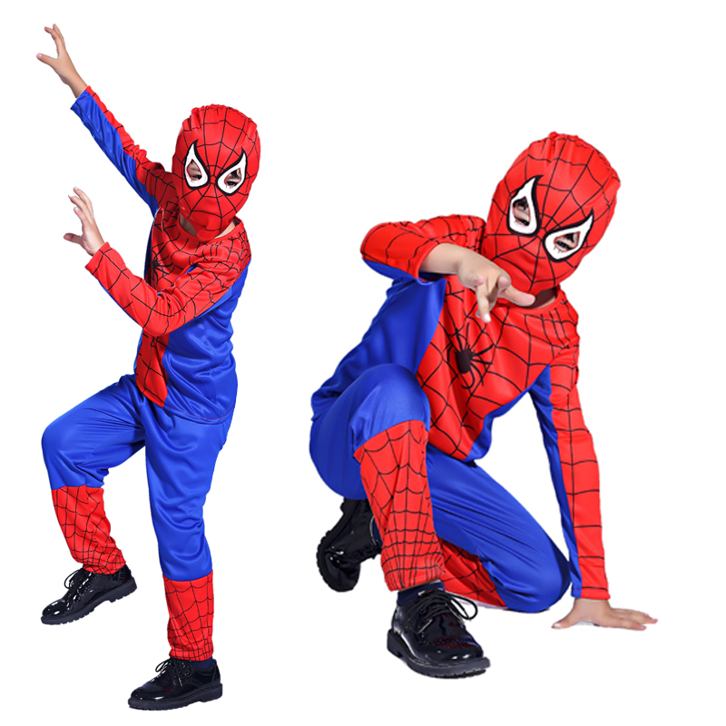 Free shipping Halloween Spiderman clothes children's clothing cosplay costume party tight leotard costumes performance clothing