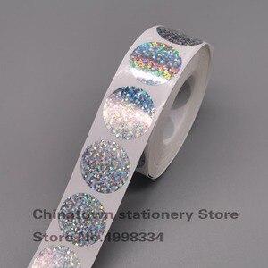 Image 1 - Autocollants grattables, paquet de 1000 pièces, étiquettes adhésives à gratter, épluchées au laser rond de 1 pouce, pour jeux promotionnels