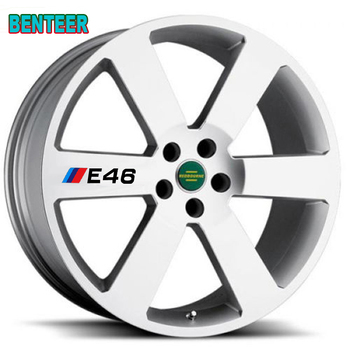 4pcs NEW E30 E34 E36 E39 E46 E60 E90 car rim sticker For bmw 1 3 5 series m3 m5 120i 130i 318i 320i 325i 520i 530i 528i image