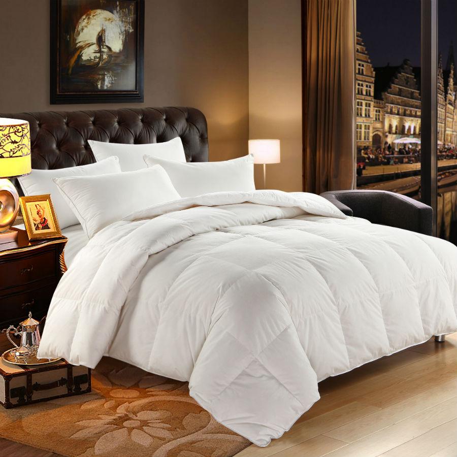 Peter Khanun fehér liba le töltelék téli paplan / vigasztaló / paplan / takaró 100% pamut héj Twin teljes királynő felső minőségi 018