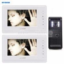 Cheap price DIYSECUR Aluminum Alloy Camera 7 inch TFT Color LCD Display Video Door Phone Intercom Doorbell 1 Outdoor Camera 2 Monitor