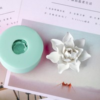 HC0030 Silica gel 3D molds White lotus silicone soap mold flowers candle mold aroma mould handmade soap making resin clay molds