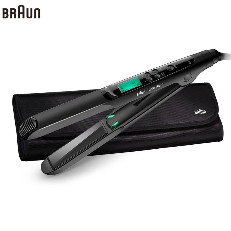 Braun Satin Hair 7 Iontec Straightener ST730  Styling Accessories Tools Curling Straightening Irons Professional 100-240v щипцы braun st 550 mn чёрный