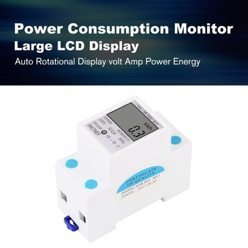 SINOTIMER Stroomverbruik Energie Watt Amp Volt Meter Analyzer KWh AC 230 V Digitale Elektriciteit Usage Monitor Wattmeter