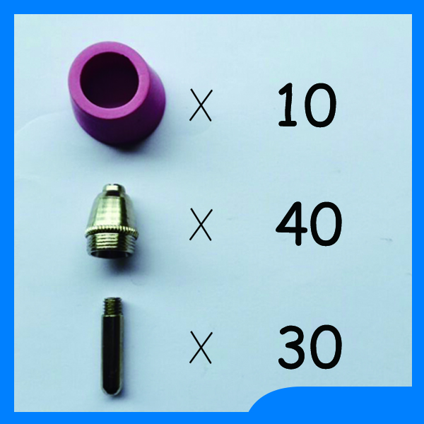 Russian warehouse delivery SG 55 AG 60 Plasma Cutting Cutter Torch Accessories KIT Plasma Nozzles TIPS 1.2mm 60Amp,80PK [randomtext category=