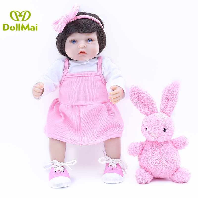 DollMai bebes reborn 1840cm  soft silicone reborn baby dolls for kids birthday gift real baby alive newborn girl dolls toys DollMai bebes reborn 1840cm  soft silicone reborn baby dolls for kids birthday gift real baby alive newborn girl dolls toys