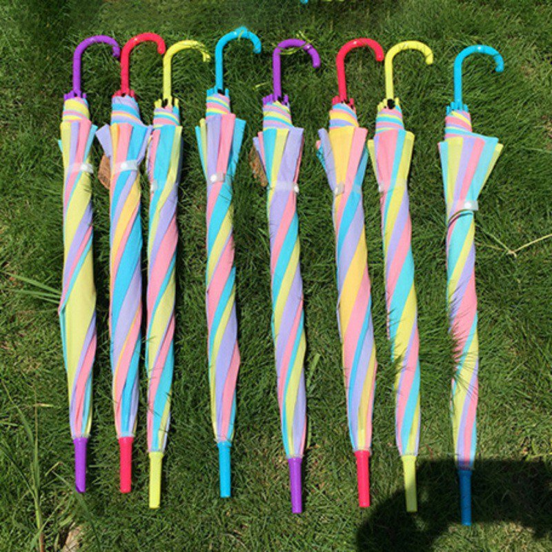 Plastic EVA Transparent Sunny Umbrella Rain Umbrella Parasol Women Semi-Automatic Children's Clear Umbrellas