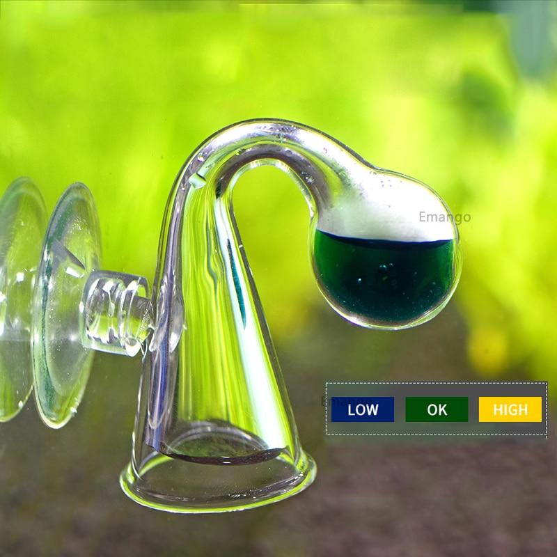 Vérificateur de goutte de verre Diffuse CO2 réservoir de poisson pour moniteur de Co2 vérificateur de goutte de verre testeur de moniteur d'indicateur à Long terme PH
