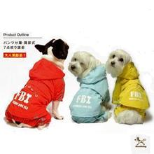 2015 New Time-limited Freeshipping Clothing Perros for Dogs Dog Collar Fbi Raincoat Poncho Raincoats Pet Dog Clothes of Samll