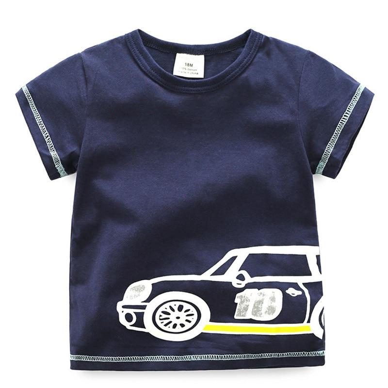 Kreskówka chłopców T Shirt 2018 Nowa letnia koszulka z krótkim - Ubrania dziecięce - Zdjęcie 1
