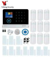 Yobang Security SMS Calling WIFI Wireless Alarm Blue Flash Siren IOS Android Apps Control GPRS RFID