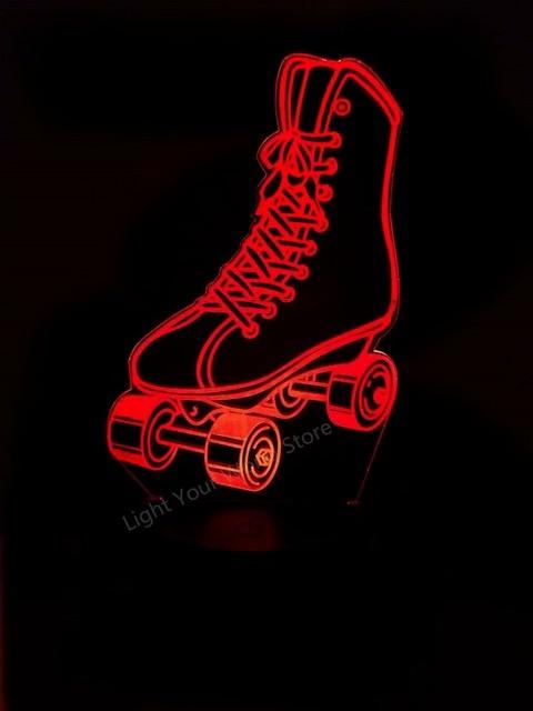 Cool Roller Skates Led 3d Lamp Color Change Sensor Shoes 3d Night