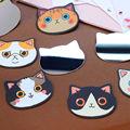 Женская мода Мини Карманные Зеркало Для Макияжа Творческий Косметического Зеркала Милый Мультфильм Cat Глава Маленькое Зеркало