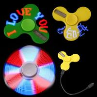 Intelligent LED Light APP Control Hand Spinner Finger EDC Fidget Spinner For Autism And ADHD Relief