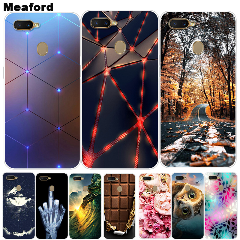 For OPPO A7 Case Phone Cover Soft Silicone Cartoon Printing Back Case For OPPO AX7 A7 2018 A5S AX5S A 7 OPPOA7 Cover Case AX 5S image