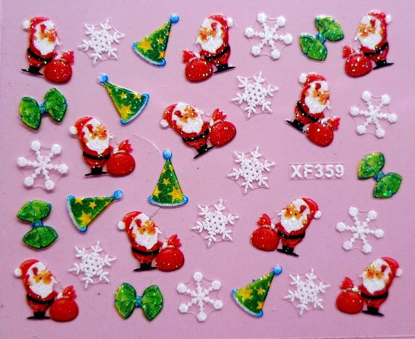 XF Christmas 3D nails nail stickers nail manicure stickers XF359 dreamcatcher single album nightmare release date 2017 01 13