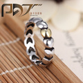 HOT wholesale Gilded silver 925 rings compatible with Pandora crystal single woman zircon name fashion jewelry ring ring cham