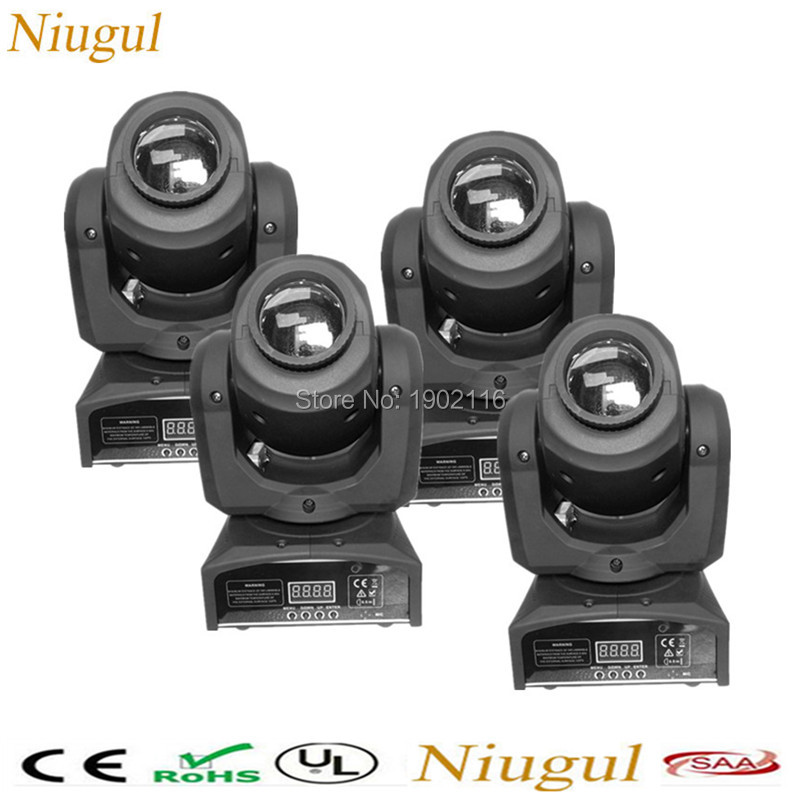 4pcs/lot 10W LED Spot Moving Head Light LED Inno Pocket Spot Mini Moving Head DMX 10w led patterns stage party disco dj lighting niugul best quality 30w led dj disco spot light 30w led spot moving head light dmx512 stage light effect 30w led patterns lamp