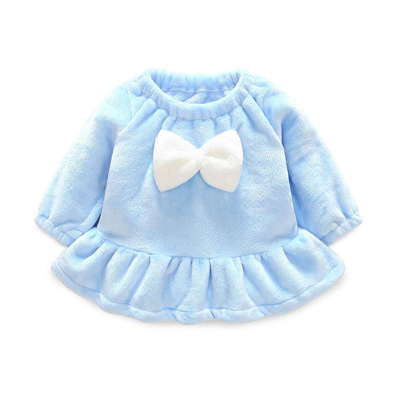 2018 Winter Baby Girls Dress Long Sleeve Bow Princess Dress Infant Newborn Girl Toddler Dresses For Baby Girls Clothes