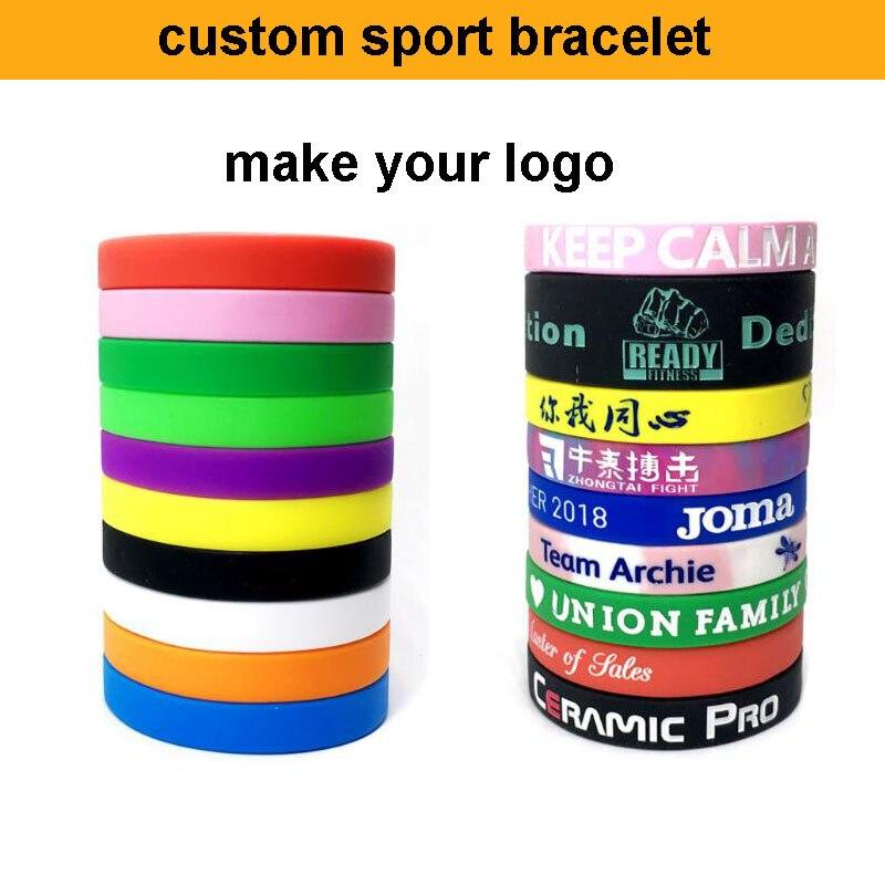 DFKC factory free shipping custom bracelet sport custom charm bracelet custom with your own logo