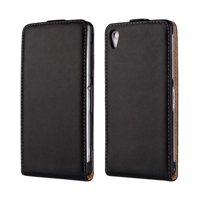 Luxury Vertical Genuine Leather Cover Flip Case For Sony Xperia Z L36H Z1 Mini Z2 Z3 Z4 Z5 Compact E Dual E1 M M2 Cases