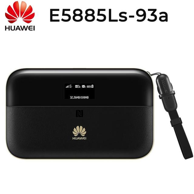HUAWEI E5885Ls 93a cat6 נייד WIFI PRO2 עם 6400mah כוח בנק סוללה ואחד RJ45 LAN Ethernet יציאת E5885 נתב
