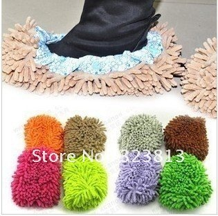 Chenille shoe cover foot cover slipper mop head Random hair color